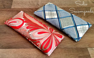 retro relaxation vintage scarf eye pillows, crafts, how to, repurposing upcycling