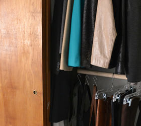 Easy Diy Hanging Closet Rod, Closet, How To, Organizing, Storage Ideas,