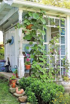 welcome to my potting shed, container gardening, gardening, outdoor living, repurposing upcycling