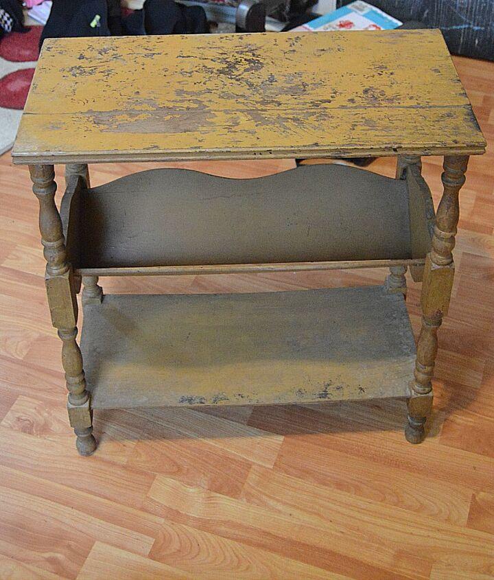 update a vintage magazine rack, chalk paint, painted furniture