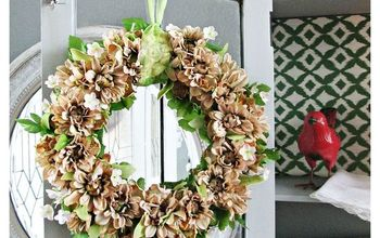 natural spring wreath and vignette, crafts, how to, seasonal holiday decor, wreaths