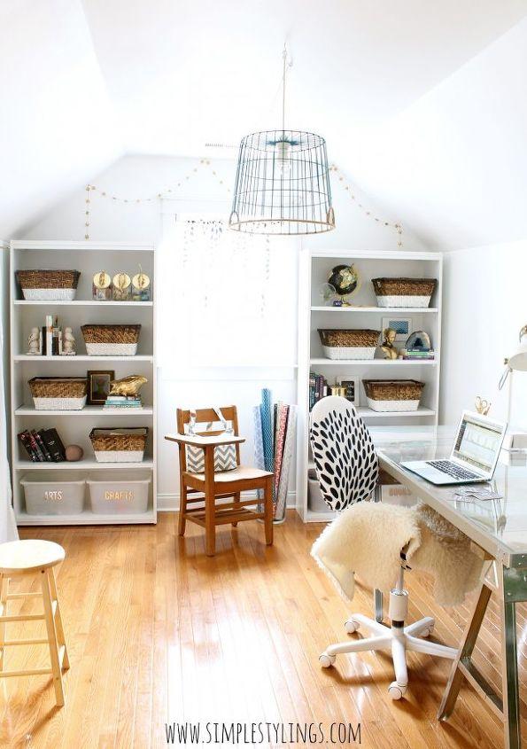 modern coastal office makeover, home office, lighting, repurposing upcycling, wall decor