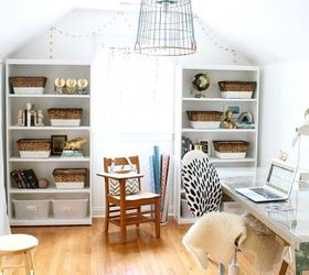 Modern Coastal Office Makeover, Home Office, Lighting, Repurposing  Upcycling, Wall Decor