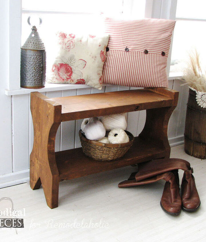 diy rustic farmhouse bench tutorial, diy, home decor, how to, painted furniture, rustic furniture, woodworking projects