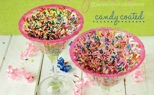 make fun funfetti martini glasses, crafts, how to