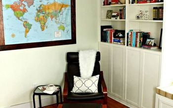 ikea hack billy bookcase in our home office, home office, painted furniture, painting, repurposing upcycling, shelving ideas