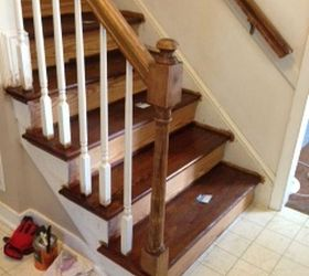 Q Should I Paint Or Stain The Newel Post On My Steps, Painting, Stairs