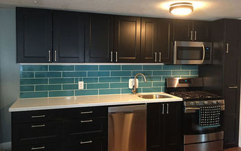 DIY Turquoise Subway Tile Backsplash