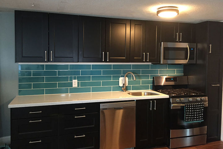 Turquoise Subway Tile Backsplash | Hometalk