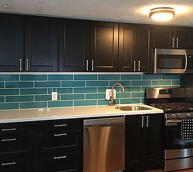 Diy Turquoise Subway Tile Backsplash, How To, Kitchen Backsplash, Kitchen  Cabinets, Kitchen