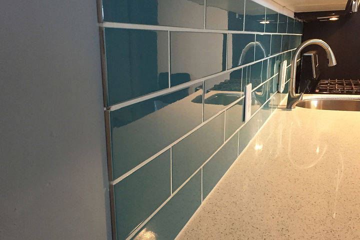Turquoise Subway Tile Backsplash | Hometalk
