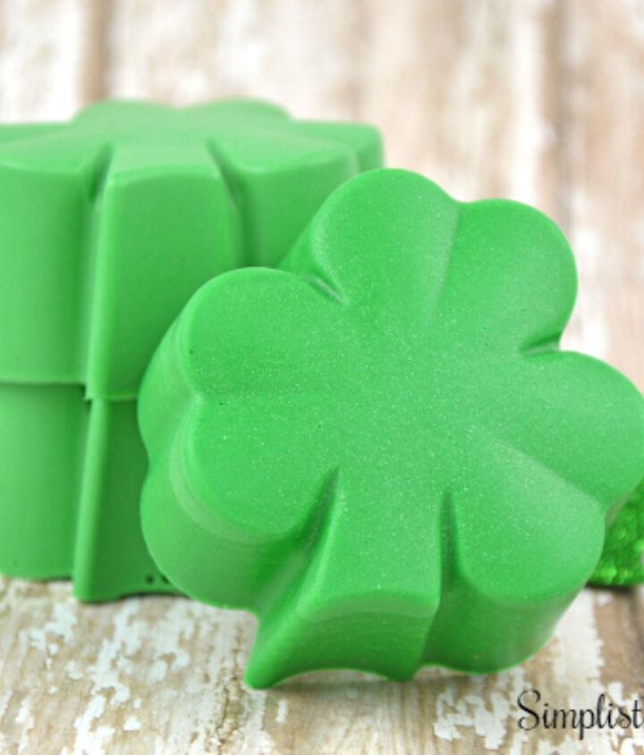 homemade shamrock soap, crafts, how to, seasonal holiday decor