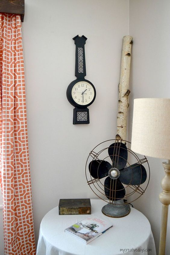 thrift store clock makeover, crafts, wall decor