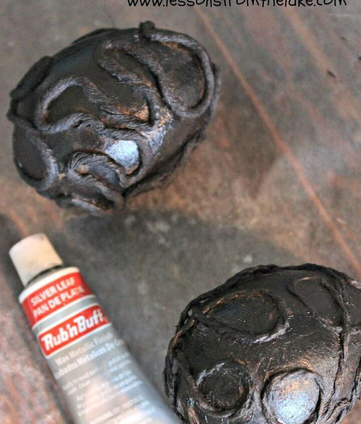 faux silver embossed eggs, crafts, how to