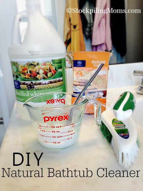 DIY Natural Bathtub Cleaner Hometalk - All natural bathroom cleaner