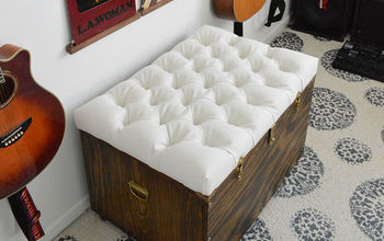 The Hardest Button to Button: A DIY Tufted Storage Ottoman.