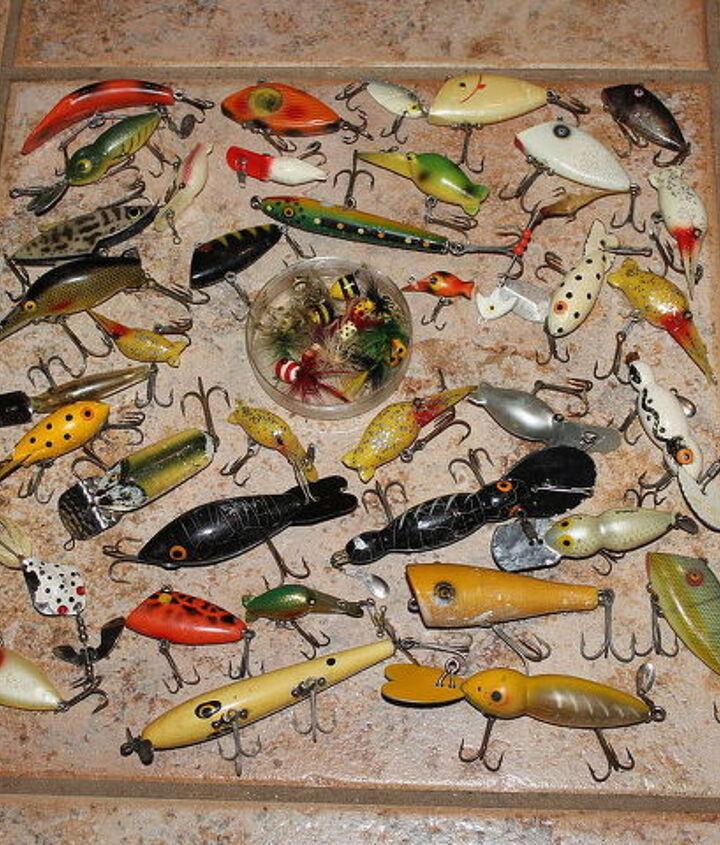 fishing lure keepsake, crafts, how to, repurposing upcycling, wall decor