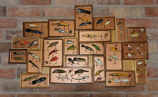 fishing lure keepsake, crafts, how to, repurposing upcycling, wall decor