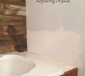 Repairing Drywall And Adding Texture With A Secret Tool, Bathroom Ideas,  Home Maintenance Repairs