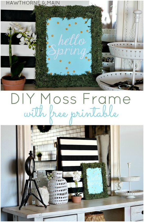 diy moss covered frame, crafts, seasonal holiday decor