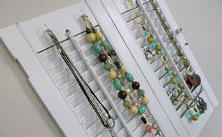 diy jewelry organizer from shutters, organizing, repurposing upcycling, wall decor