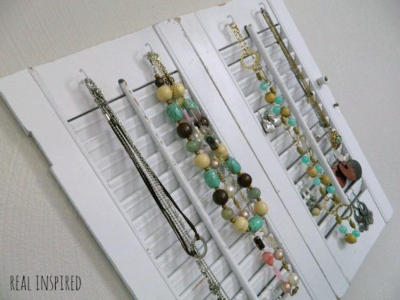 diy jewelry organizer from shutters, organizing, repurposing upcycling, wall decor