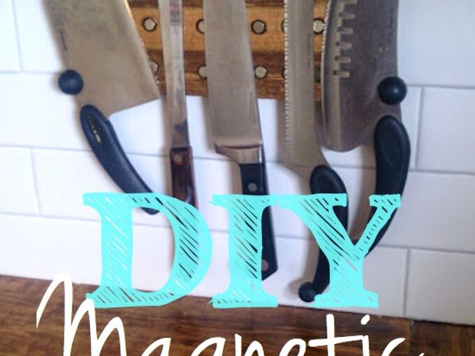make a magnetic knife rack our of scrap wood, crafts, how to, kitchen design, organizing, storage ideas, woodworking projects