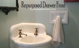 dumpster drawer to towel hook, bathroom ideas, repurposing upcycling