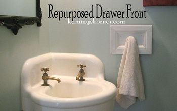 dumpster drawer to towel hook, bathroom ideas, repurposing upcycling