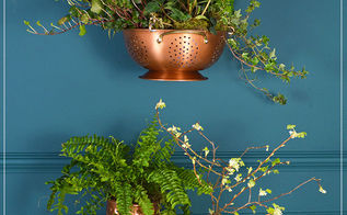 colander hanging planter, container gardening, flowers, gardening, home decor, repurposing upcycling