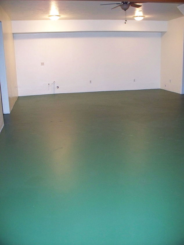 How To Paint Your Concrete Basement Floor To Look Like Slab Flagstone Hometalk