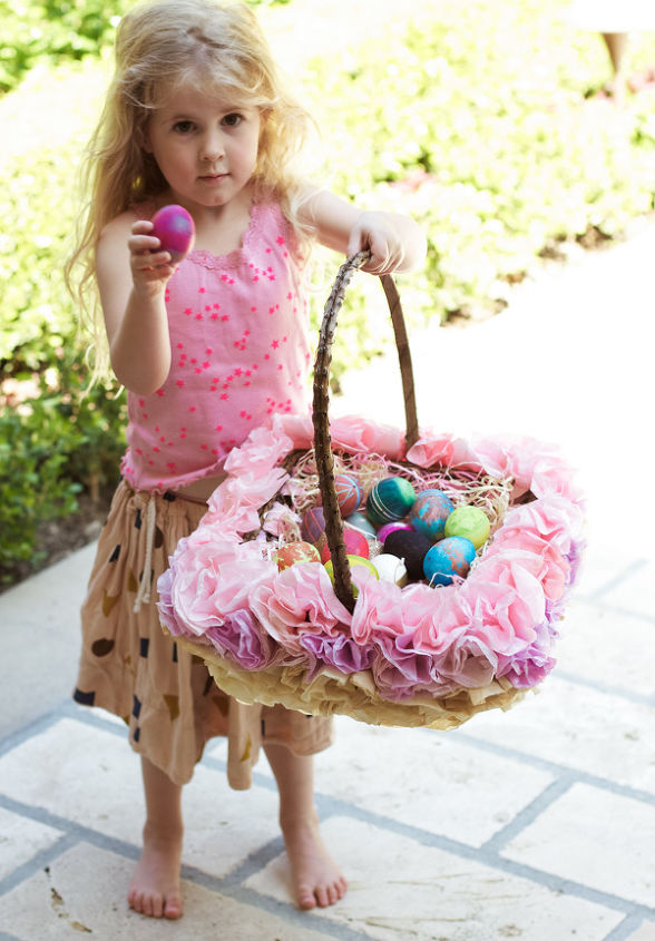 lilyshop how to with jessie jane coffee filter easter basket, crafts, easter decorations, how to, repurposing upcycling, seasonal holiday decor