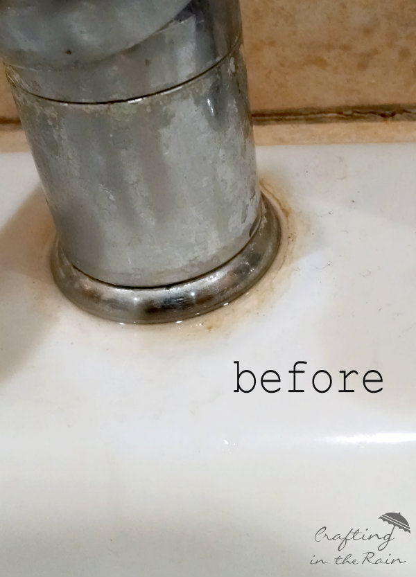 how to clean a white sink, cleaning tips, how to
