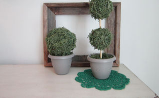 diy moss topiary, crafts, how to