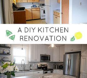 White And Bright Diy Kitchen Makeover, Home Improvement, Kitchen  Backsplash, Kitchen Cabinets,