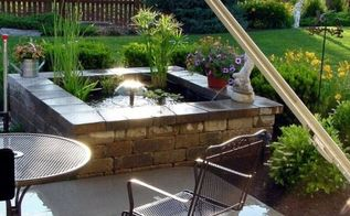 a little piece of heaven at home, landscape, outdoor living, patio, ponds water features, A view from our kitchen now finished