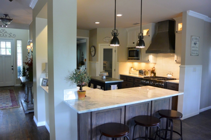 The new kitchen features a larger and more open layout, with a rustic and modern style. (Photo courtesy of Tammy O'Hearn)