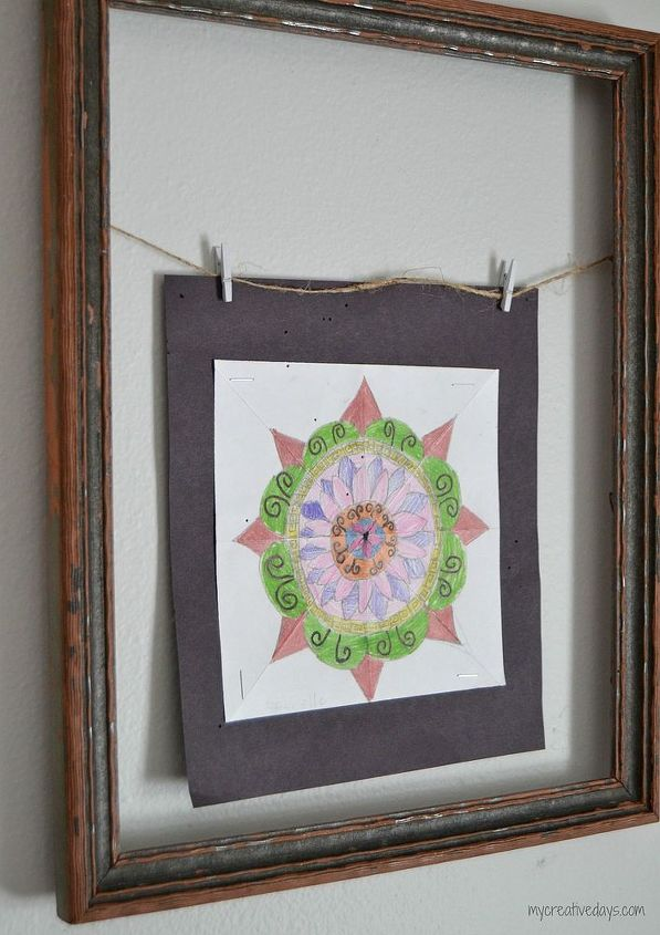 Old Frames and Old Table Make Art Gallery Wall   Hometalk