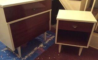 mid century modern modern, painted furniture, repurposing upcycling