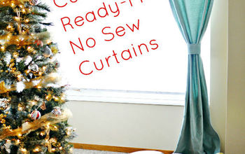 how to customize store bought drapes with no sew tape, how to, reupholster, window treatments, windows