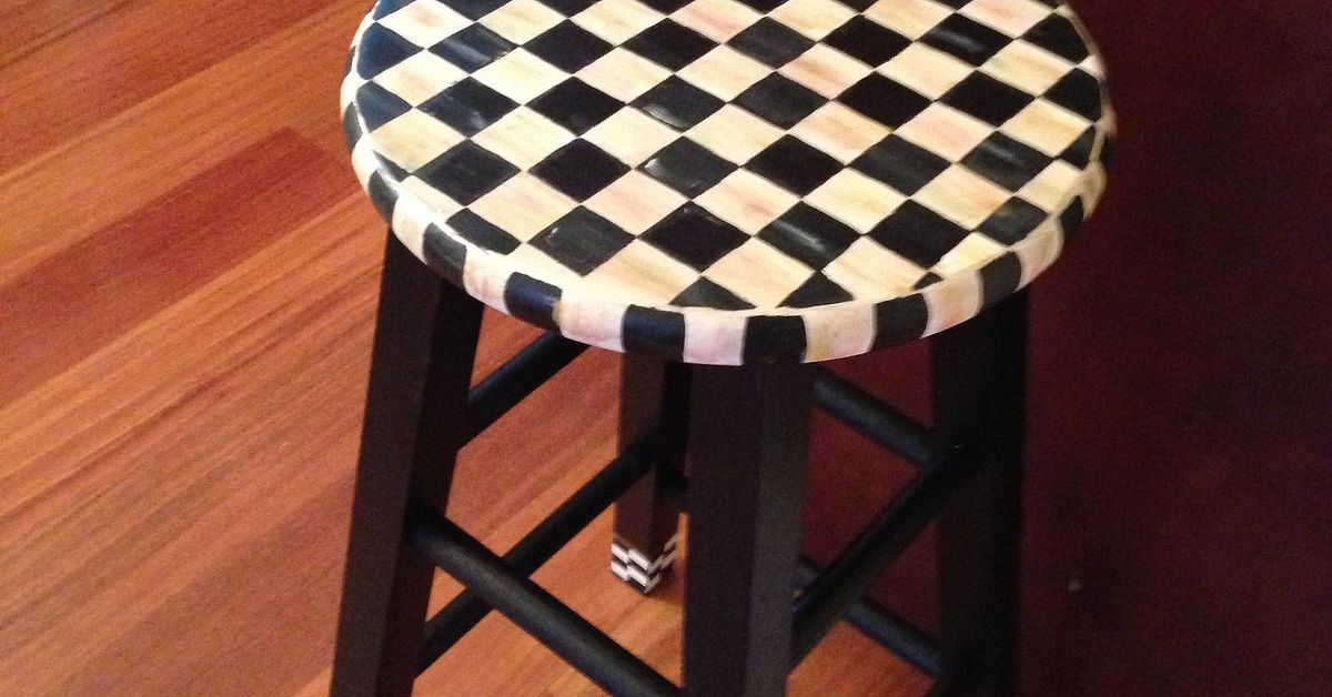 Painting A Stool With Mackenzie Childs Look