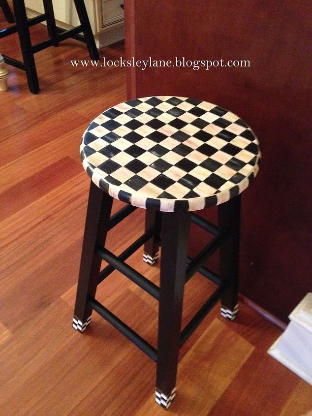 Painting A Stool With Mackenzie Childs Look Painted Furniture