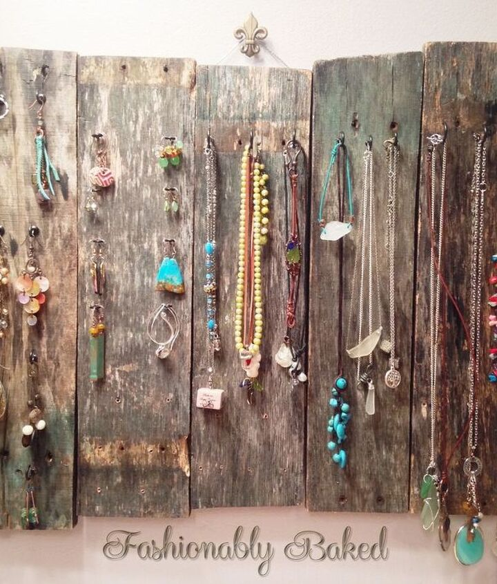 upcycled pallet jewelry organizer, organizing, pallet, repurposing upcycling, woodworking projects