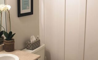 board and batten, bathroom ideas, painted furniture, small bathroom ideas, wall decor