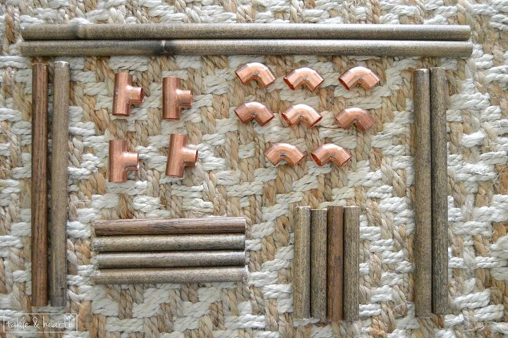 easy copper and wood magazine rack, crafts, how to, plumbing, repurposing upcycling