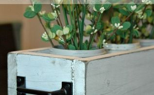 diy rustic planter box, dining room ideas, gardening, home decor, how to, mason jars, repurposing upcycling, woodworking projects