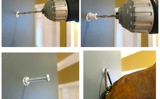 how to hang something heavy when there is no stud in the wall, how to, wall decor