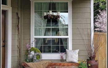 An Early Spring Porch Decorated With Nature