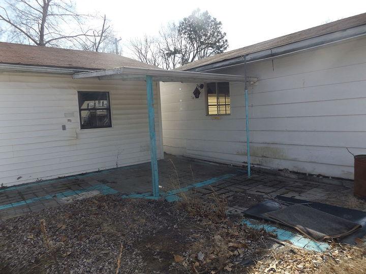q my new back patio needs work, concrete masonry, gardening, outdoor living, patio
