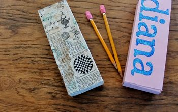 how to up cycle a spagetti box into a pencil box, crafts, how to, repurposing upcycling